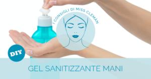 Gel sanitizzante mani